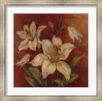 Crimson Lilies I Fine Art Print