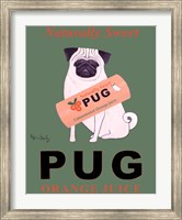 Pug Orange Juice Fine Art Print
