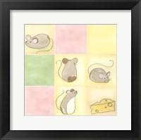 Tic-Tac Mice In Pink Fine Art Print