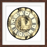 Aged Elegance Clock Giclee
