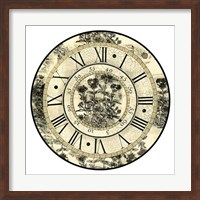Antique Floral Clock Giclee