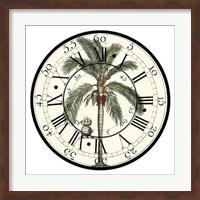 Antique Palm Clock Giclee