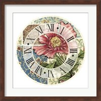 Cottage Rose Clock Giclee
