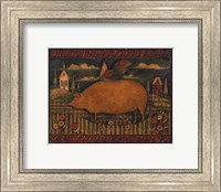 Farmhouse Pig Fine Art Print