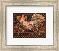 Rooster With Sunflowers Fine Art Print