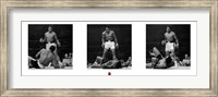 Muhammad Ali - 1965 1st Round Knockout Against Sonny Liston - Triptych Fine Art Print