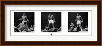 Muhammad Ali - 1965 1st Round Knockout Against Sonny Liston - Triptych Fine Art Print