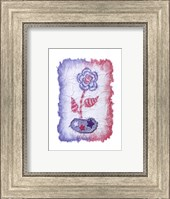 Evelyn - Denim Floral III Fine Art Print