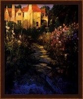 Garden Walk at Sunset Fine Art Print