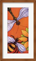 Dragonfly and Bumblebee Fine Art Print