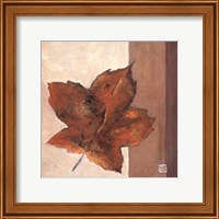 Leaf Impression - Rust Fine Art Print