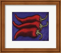 Three Chilli Peppers Fine Art Print