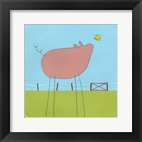 Stick-Leg Pig I Fine Art Print