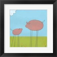 Stick-Leg Pig II Fine Art Print