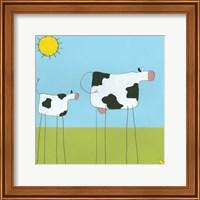 Stick-Leg Cow I Fine Art Print