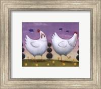 Funky Chickens Fine Art Print