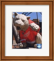 Comerica Park Statue With Detroit Red Wings 2008 Stanley Cup Jersey Fine Art Print