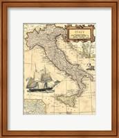 Italy Map Fine Art Print