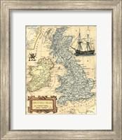 British Isles Map Fine Art Print