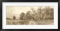 The Country Road Sepia Fine Art Print
