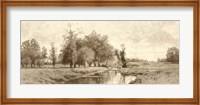 The Meadow Brook Sepia Fine Art Print