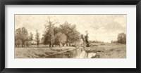 The Meadow Brook Sepia Fine Art Print
