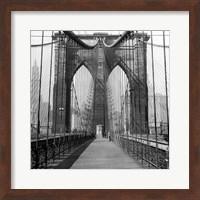 The Brooklyn Bridge, Sunday AM Fine Art Print