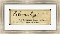 Vintage Family Fine Art Print