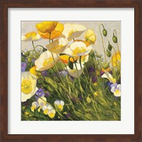 Poppies and Pansies I Fine Art Print