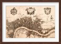 Plan of the City of London, 1720 Fine Art Print
