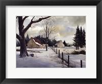 Snow Fields - Winter Barn Fine Art Print