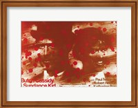 Butch Cassidy and the Sundance Kid Blood Splatter Fine Art Print