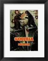 Godzilla vs Megalon Fine Art Print