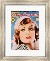 Joan Crawford - Blue Silver Screen Fine Art Print