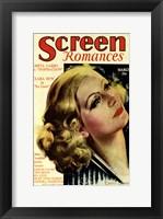 Greta Garbo - Screen Romances Fine Art Print
