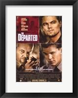 The Departed Damon DiCaprio Nicholson Fine Art Print