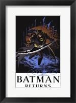 Batman Returns Comic Throwing Blade Fine Art Print
