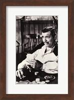 Gone With The Wind Clark Gable Black & White Fine Art Print