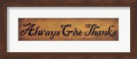 Always Give Thanks Fine Art Print