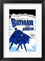 Batman and Robin Blue Fine Art Print