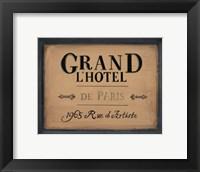 Grand l'Hotel Fine Art Print