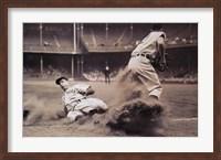 Joe DiMaggio Sliding Into Third Fine Art Print