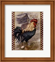 True Blue Rooster Fine Art Print