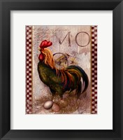 Green Pastures Rooster Fine Art Print