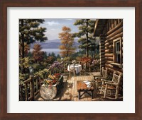 Log Cabin Porch Fine Art Print