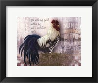 Checkerboard Rooster Fine Art Print