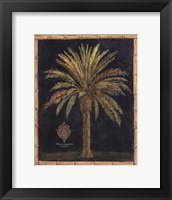 Caribbean Palm I With Bamboo Border Fine Art Print