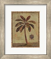 Caribbean Palm IV With Bamboo Border Fine Art Print