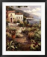 Villa's Garden Path Fine Art Print