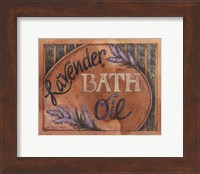 Lavender Bath Oil Fine Art Print